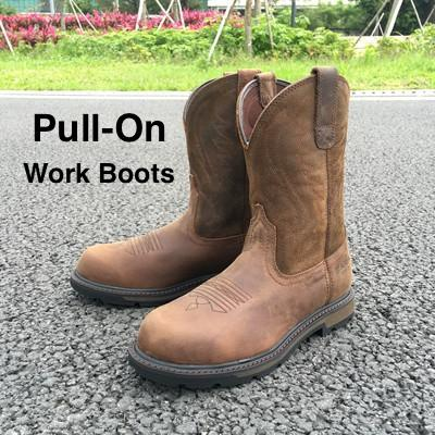 best pull on work boots